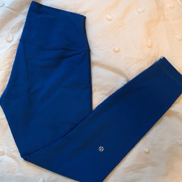 lululemon athletica Pants - Blue Lululemon Wunder Under Leggings